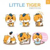 Roztomilý emotikony Design - Cat Set