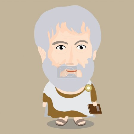 Photo for Aristotle Cartoon Character with Illustrator - Royalty Free Image