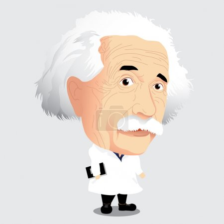 Vector illustration - Albert Einstein