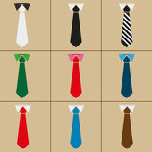 Icons  combination of shirt and tie on a brown background
