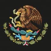 Mexico national emblem - golden eagle catch snake