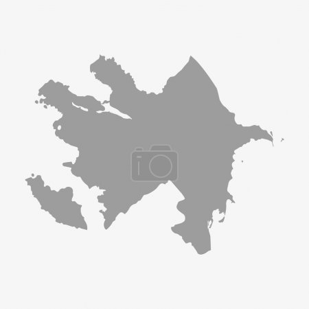 Map of Azerbaijan in gray on a white background