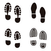 Collection of a imprint soles shoes Vector illustration