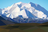 Mountains landscape in polygonal style Mountains background in low poly