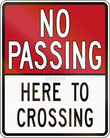 No Passing Here To Crossing In Canada