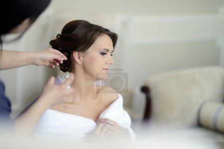 Wedding makeup and hairstyle for bride