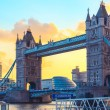 Sunset at Tower Bridge and St. Katharine Pier  in ...