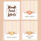 collection of blank food labels