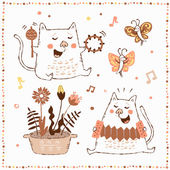 Happy Birthday card with cats