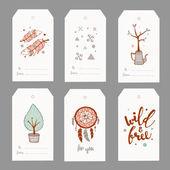 hand drawn cute gift tags