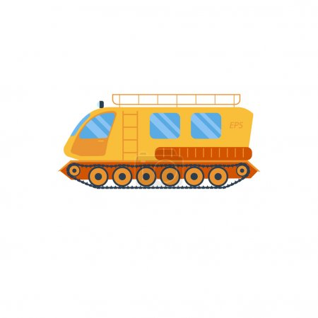 Cross country vechicle vector illustration . Isolated atv truck. Off Road Vehicle Outdoor Utility Atv