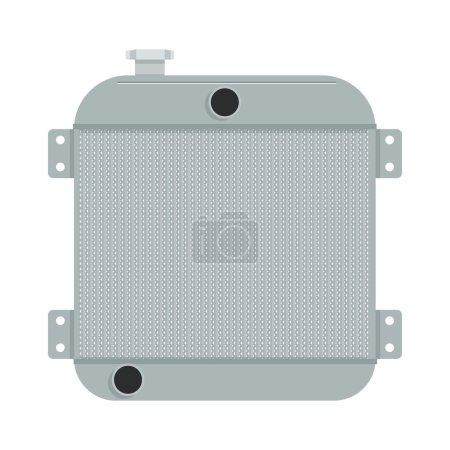 Car radiator vector illustration.