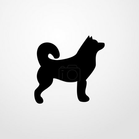 husky icon. husky sign
