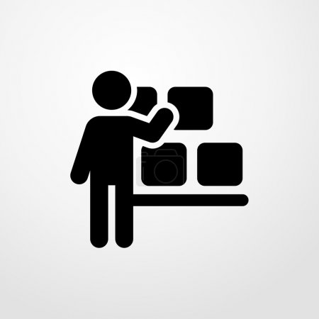 storekeeper icon. storekeeper sign