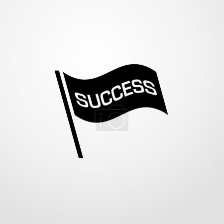 succes flag icon. succes flag sign