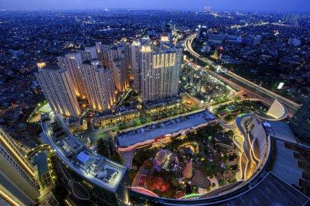 Photo pour Tiré de 47 étage,, lieux Jakarta - image libre de droit