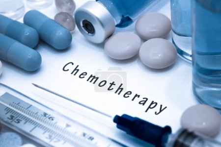 Chemotherapy - diagnosis written on a white piece of paper