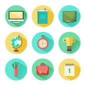 Educational  icons set