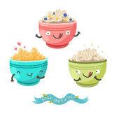 Cute porridge characters
