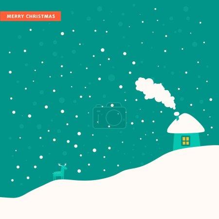 Simple winter landscape