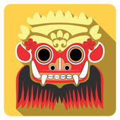 Barong Bali Flat icons Traditional mythological god