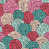 Seamless yarn balls pattern