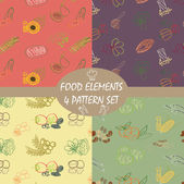 Pattern colorful food elements for healthy