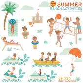 Beach Activities infographic