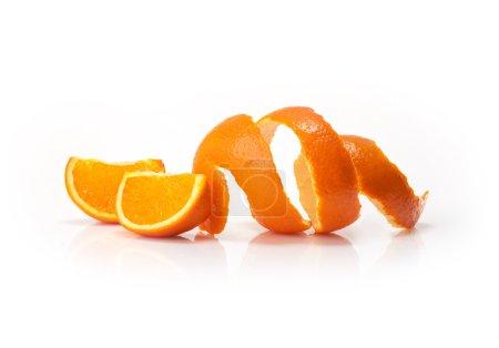 Photo pour Fruits oranges et coin isolé sur fond blanc - image libre de droit