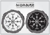 Galdrastafir - ancient icelandic magic symbols Aegishjalmur - to affect mind of your enemies with fear illusion delusion
