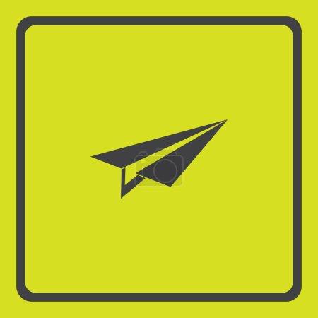 Plane icon, vector illustration. Flat design...