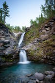 Krásné horské vodopád