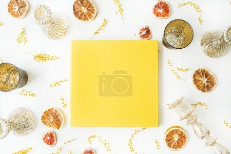 yellow wedding or family album