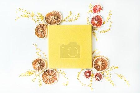 yellow wedding or family photo album