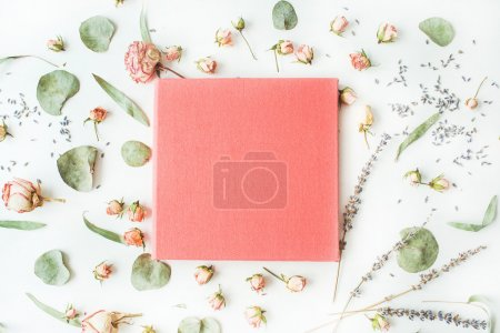 pink wedding or family photo album