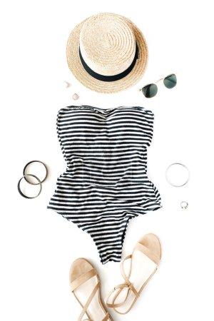 woman swimsuit beach accessories