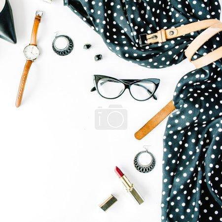 flat lay feminine clothes