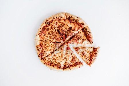 Flat lay margherita pizza