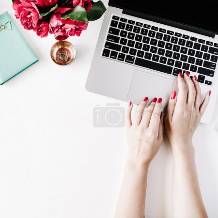 Woman in cozy workspace