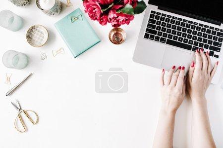 Woman in cozy workspace
