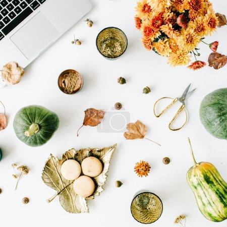 Autumnal office desk
