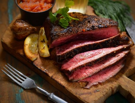 Sliced grilled Beef steak