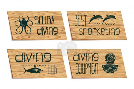 Set design logo scuba diving