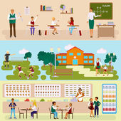 Set of Isolated illustrations  school