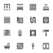Icons set in flat style of construction and home repair