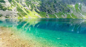 beautiful black pond (polish: czarny staw) in High Tatra Mountains, Poland