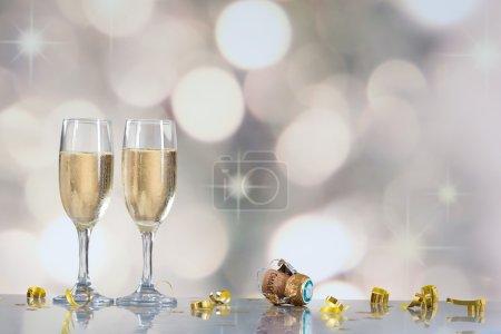 Festive champagne flutes