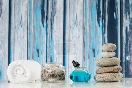 spa accessories and  zen stones