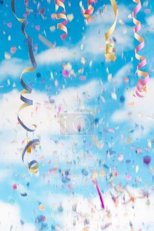 colorful Streamers and confetti