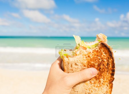 Healthy lunch on the beach